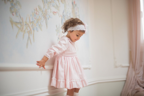 Piccola Speranza Girls Pink Dress